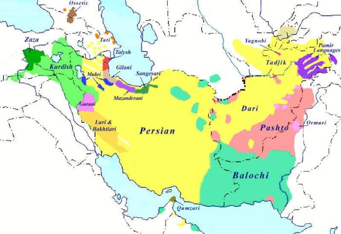 اللغات الإيرانية اليوم