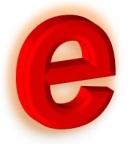 letter e 3D