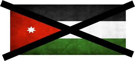 Jordan flag x mark