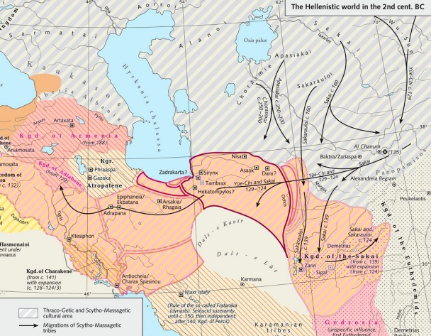Scythian tribes in Bactria 2nd century bc