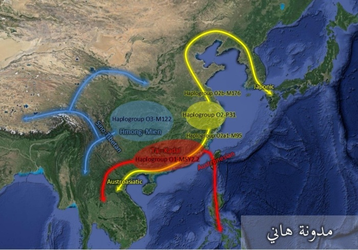 Haplogroup O migrations Southeast asian language families