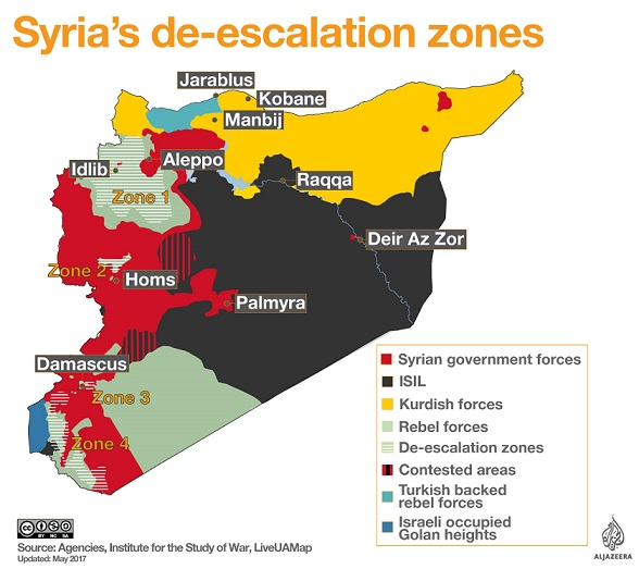 Syria de-escalation zones