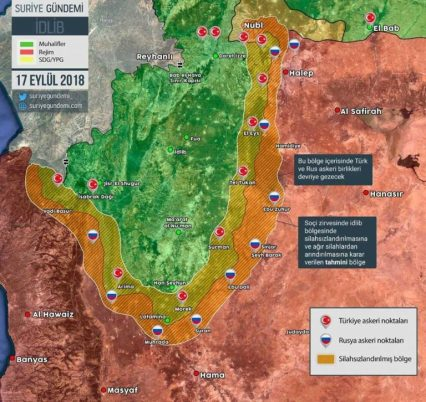 demilitarized zone Idlib Syria Turkey Russia 17-9-2018